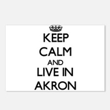 Keep Calm and live in Akron Postcards (Package of