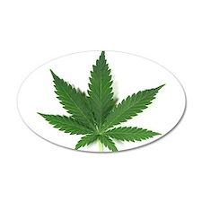 Marijuana Leaf Wall Decal