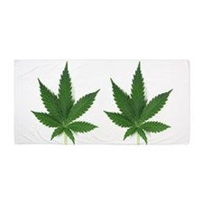 Marijuana Leaf Beach Towel