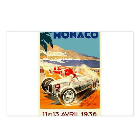 Antique 1936 Monaco Grand Prix Auto Race Poster Po