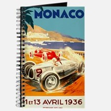 Antique 1936 Monaco Grand Prix Auto Race Poster Jo