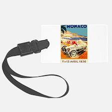 Antique 1936 Monaco Grand Prix Auto Race Poster Lu