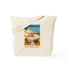 Antique 1936 Monaco Grand Prix Auto Race Poster To