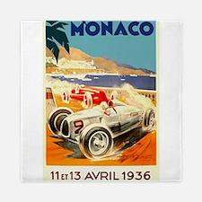 Antique 1936 Monaco Grand Prix Auto Race Poster Qu