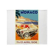 Antique 1936 Monaco Grand Prix Auto Race Poster Th