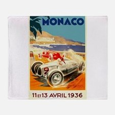 Antique 1936 Monaco Grand Prix Auto Race Poster Th
