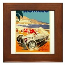 Antique 1936 Monaco Grand Prix Auto Race Poster Fr
