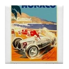 Antique 1936 Monaco Grand Prix Auto Race Poster Ti