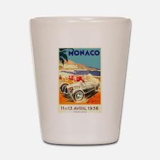 Antique 1936 Monaco Grand Prix Auto Race Poster Sh
