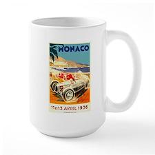 Antique 1936 Monaco Grand Prix Auto Race Poster Mu