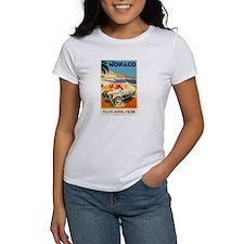 Antique 1936 Monaco Grand Prix Auto Race Poster T-