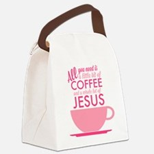 Coffee & Jesus Canvas Lunch Bag