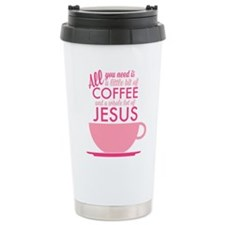 Coffee & Jesus Thermos Mug