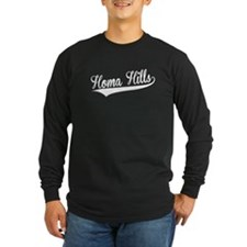 Homa Hills, Retro, Long Sleeve T-Shirt