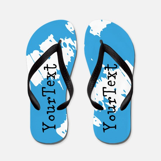 Abstract Blue Personalized Flip Flops