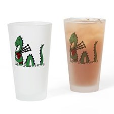 LochNess Monster Bagpipes Drinking Glass