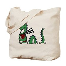 LochNess Monster Bagpipes Tote Bag