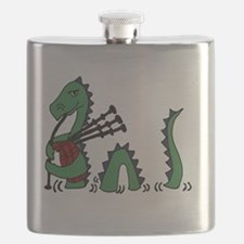LochNess Monster Bagpipes Flask