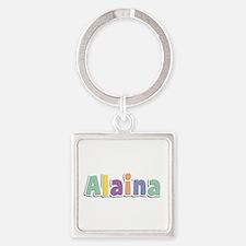 Alaina Spring14 Square Keychain