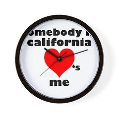 Somebody in California Wall Clock