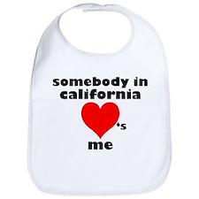 Somebody in California Bib