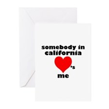 Somebody in California Greeting Cards (Package of