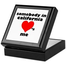 Somebody in California Keepsake Box