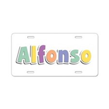 Alfonso Spring14 Aluminum License Plate