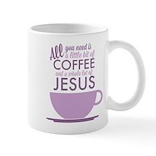 Coffee & Jesus Small Mug