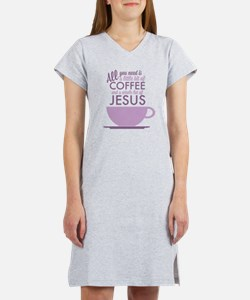 Coffee & Jesus Women's Nightshirt