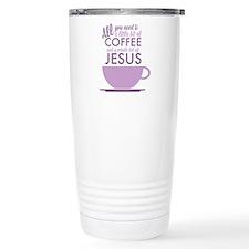 Coffee & Jesus Travel Coffee Mug