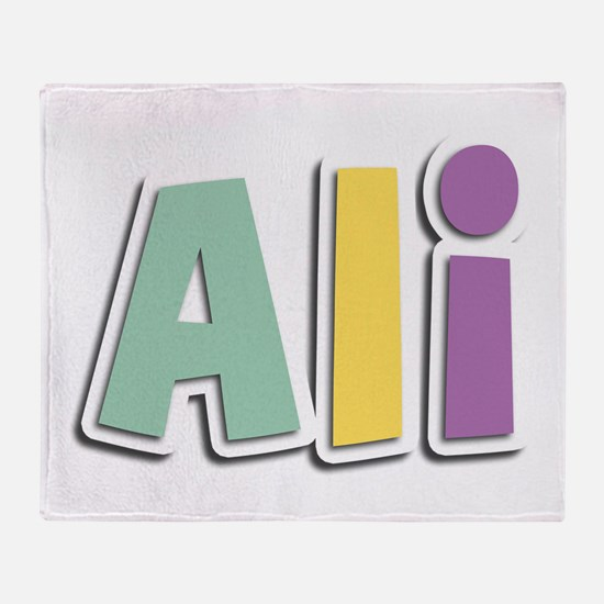 Ali Spring14 Throw Blanket
