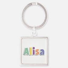 Alisa Spring14 Square Keychain