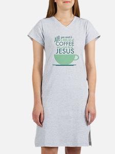 Coffee & Jesus Women's Nightshirt