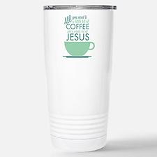 Coffee & Jesus Stainless Steel Travel Mug