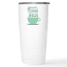 Coffee & Jesus Thermos Mug