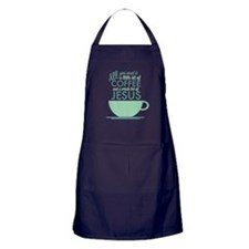 Coffee & Jesus Apron (dark)
