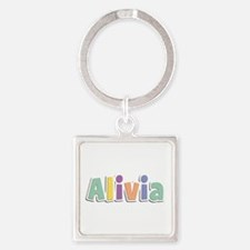 Alivia Spring14 Square Keychain
