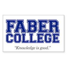 FABER COLLEGE - Bumper Stickers