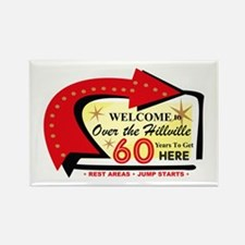 Over the Hillville 60 Rectangle Magnet