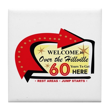 Over the Hillville 60 Tile Coaster