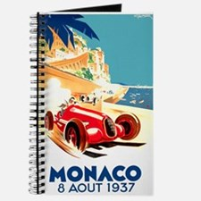 Antique 1937 Monaco Grand Prix Auto Race Poster Jo