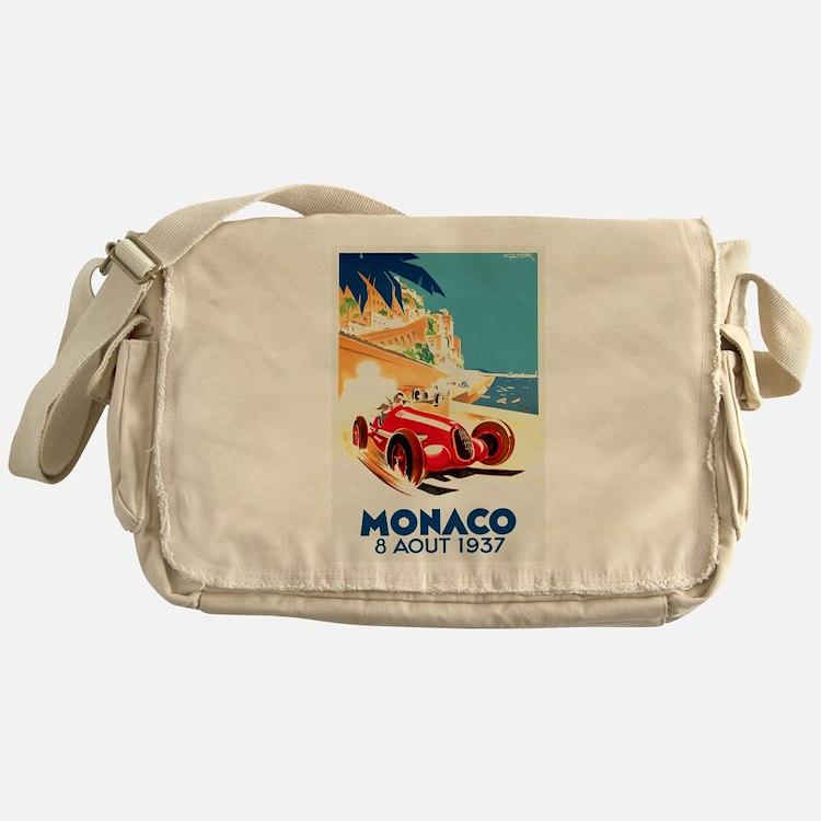 Antique 1937 Monaco Grand Prix Auto Race Poster Me