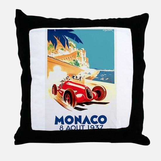 Antique 1937 Monaco Grand Prix Auto Race Poster Th