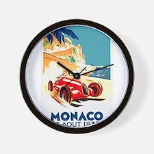 Antique 1937 Monaco Grand Prix Auto Race Poster Wa