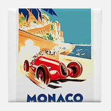 Antique 1937 Monaco Grand Prix Auto Race Poster Ti