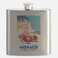 Antique 1937 Monaco Grand Prix Auto Race Poster Fl