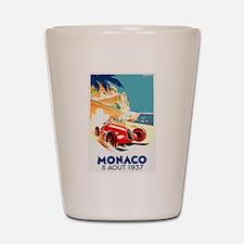Antique 1937 Monaco Grand Prix Auto Race Poster Sh