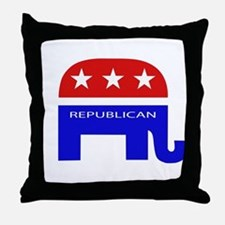GOP Elephant Throw Pillow