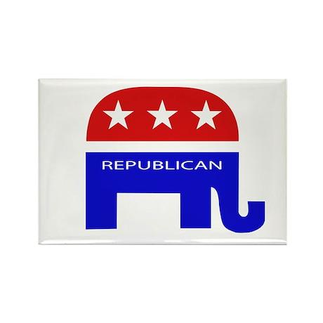 GOP Elephant Rectangle Magnet (100 pack)